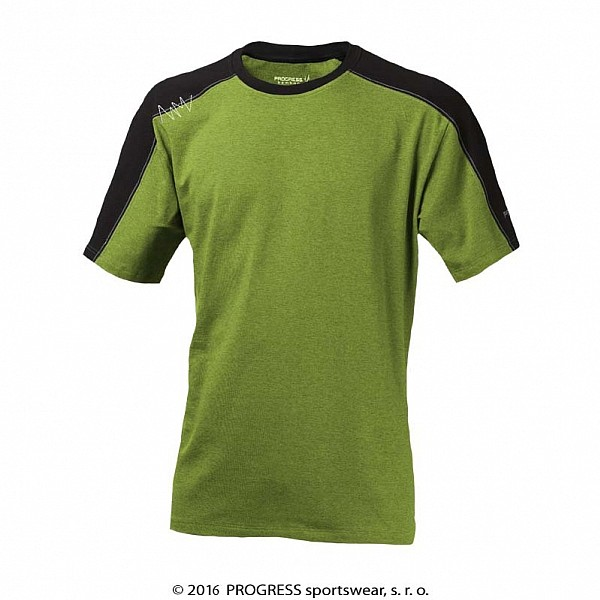 6fbdca1b29b0 triko krátké pánské Progress MENTOR černo zelené
