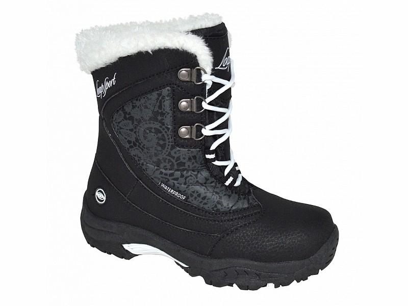 boty dětské LOAP SPIRIT zimní černo bílé  6492e2a9e7