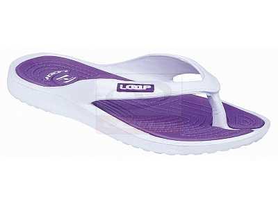 06225d13692 boty dámské LOAP DUBLIN žabky bílo fialové